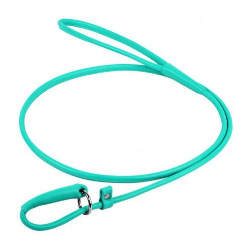Поводок-удавка Waudog Glamour круглый для собак 6 мм, 135 см, ментоловый