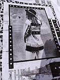 Стильная белая футболка на девочку 10-16 лет Benini, фото 2