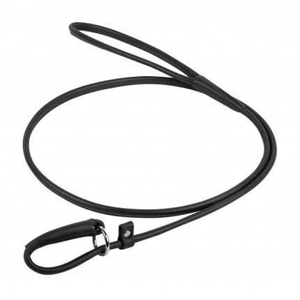 Повідець-зашморг Waudog Glamour круглий для собак 6 мм, 135 см, чорний, фото 2