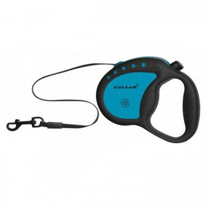 Рулетка для собак весом до 12 кг, 4 м, голубая, фото 2