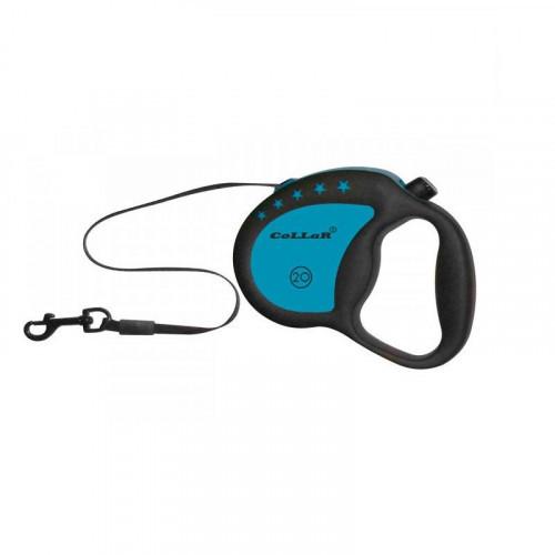Рулетка для собак весом до 20 кг, 4 м, голубая