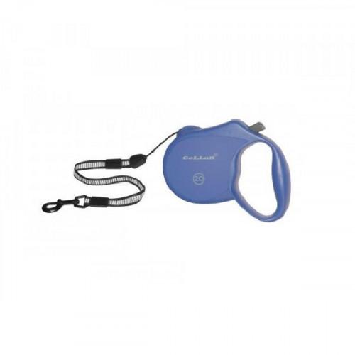Рулетка со светоотражающей лентой для собак весом до 20 кг, 5 м, голубая