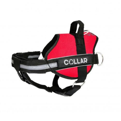 Шлея Dog Extreme Police №4 с фонариком для собак 70-100 см, красный