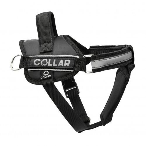 Шлея Dog Extreme Police №4 з ліхтариком для собак 70-100 см, чорний