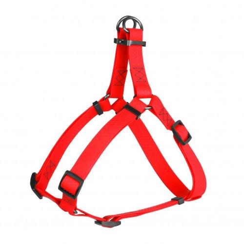 Шлея Waudog Waterproof для собак, водостойкая, 15 мм, 40-55 см, красная