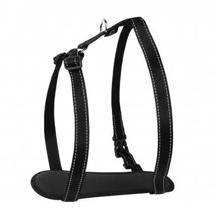 Шлея Dog Extreme Comfort для собак 20 мм, 50-80 см, чорна, фото 2