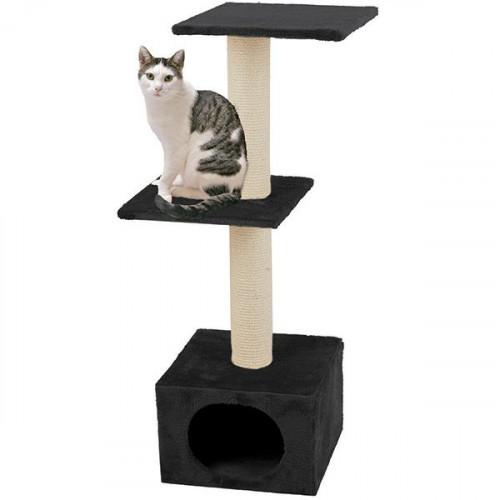 Когтеточки Flamingo Smaragd Black для кошек, 2 уровня, черный, 103×35×42 см