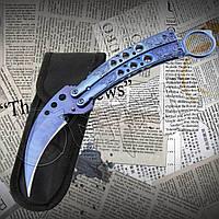 Складной нож- бабочка К12b из высокопрочной стали для флиппинга