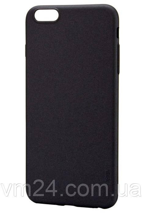 Чехол-накладка ультратонкий 0.3mm для Apple iPhone 6/6S  силиконовый матовый (черный)
