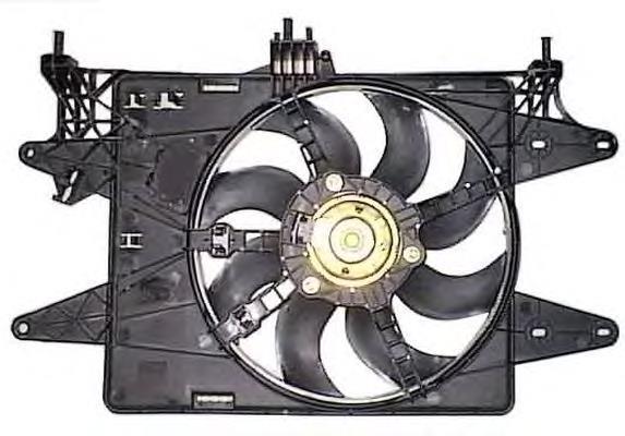 Диффузор с одним вентилятором + АС 1.4i 8v-1.6i 16v Doblo 2005-2016, Арт. 83155, 51768022, 51774951, MGA