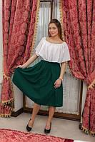 Жіноча спідниця Подіум Eleve 10898-DARKGREEN XL Зелений