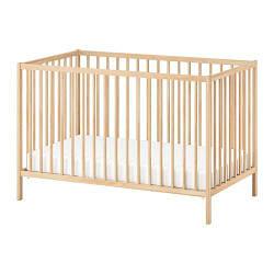 ИКЕА (IKEA) СНИГЛАР, 302.485.37, Кроватка детская, бук, 60x120 см - ТОП ПРОДАЖ