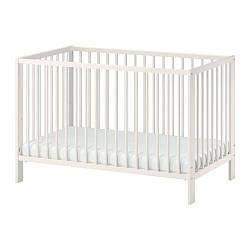 ИКЕА (IKEA) ГУЛЛИВЕР, 102.485.19, Кроватка детская, белый, 60x120 см - ТОП ПРОДАЖ