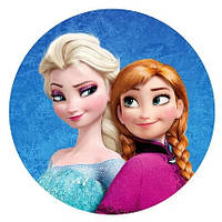 Наклейка на коробку-сюрприз Холодное сердце Анна и Эльза
