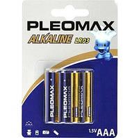Батарейка PLEOMAX R-3 (ААА) Алкалайновые (мини-ПАЛЬЧИК) БЛИСТЕР 40шт / уп