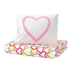 ИКЕА (IKEA) ВИТАМИНЕР ЙЭРТА, 801.632.91, Комплект постельного белья, разноцветный, 150x200/50x60 см - ТОП ПРОДАЖ