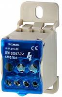 Блок распределительный на DIN-рейку 80А E.NEXT