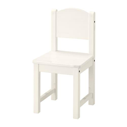 ИКЕА (IKEA) СУНДВИК, 601.963.58, Детский стул, белый - ТОП ПРОДАЖ