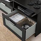 ИКЕА (IKEA) БРИМНЭС, 704.098.73, Тумба под ТВ, черный, 180x41x53 см - ТОП ПРОДАЖ, фото 3