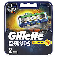 Картриджи, кассеты Gillette FUSION ProGlide Power (2шт), фото 1