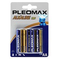 Батарейка PLEOMAX R-6 (АА) АНКАЛАЙН (ПАЛЬЧИК) БЛИСТЕР 40шт / уп 400 шт. / Ящ