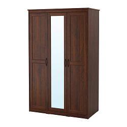 ИКЕА (IKEA) SONGESAND, 603.751.33, Гардероб, коричневый, 120x60x191 см - ТОП ПРОДАЖ