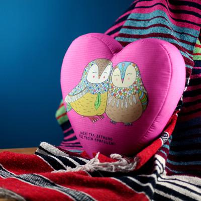 Подушка сердце 3D Мені так затишно під твоїм крильцем! 40х40х7,5 см (3DPS_USAN015)