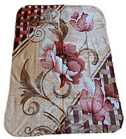 Плед Cappone гладкий (облегченка) 1,5 х 2. Цветы.