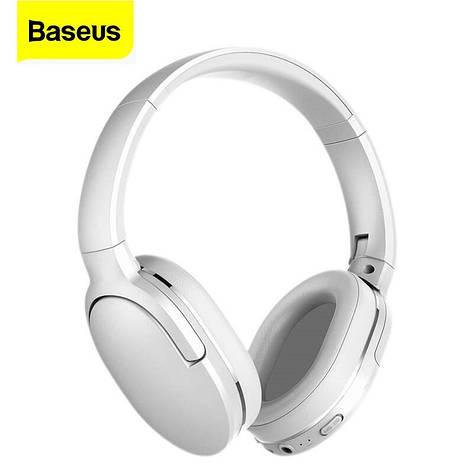 Навушники безпровідні (гарнітура) Baseus Encok D02 White, фото 2