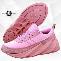 Женские кроссовки в стиле Adidas Sharks Pink Розовые