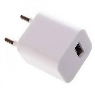 Адаптер-зарядка USB 220V 1А кубик