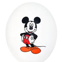 """Гелієва куля 12"""" 30см малюнок міккі маус на білому 0441"""