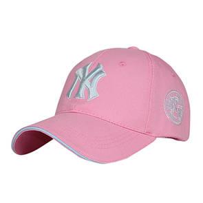 Красивая розовая кепка NY- №3024