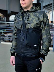 Мужской виндранер с капюшоном камуфляжного окраса XL
