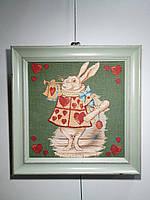 """Гобеленовая картина Art de Lys в раме """"Алиса в стране чудес"""" 33x33см"""