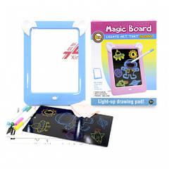 Дитяча магічна 3D дошка для малювання Magic Board Drawing Pad Blue (3699-11714a)
