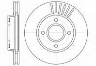 Тормозной диск передний FORD Mondeo (-2000) ,Scorpio (-98г), пр-во ABE C3G003ABE