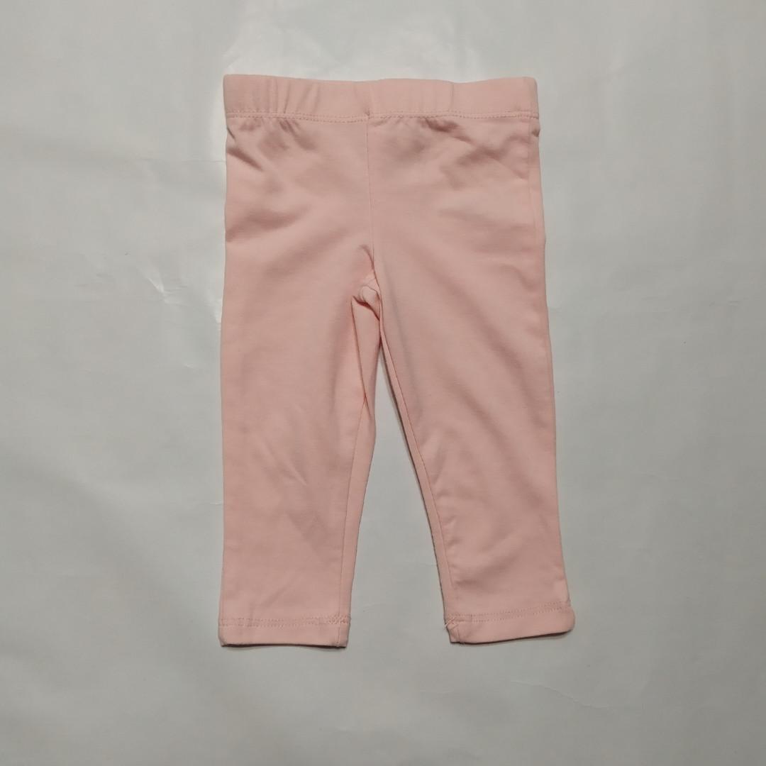 Лосины для новорожденных розовые р.68см