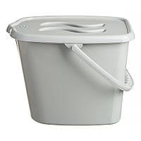 Ведерко для подгузников и воды Maltex Classic 0172  grey