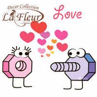 """Салфетка ТМ """"La Fleur"""" 33 * 33, 2 слоя, 20шт. """"Неожиданное любви"""" 15уп / ящ"""