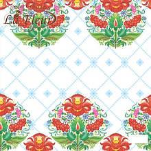 Салфетка ТМ La Fleur 33*33, 2 шари, 20 шт Українські мотиви  (4820164967225)