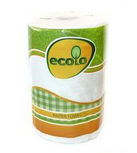 """Полотенце бумажный """"Ecolo"""" 2 слоя (1шт / большая намотка)"""