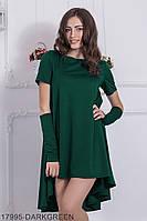 Жіноче плаття з мітенками Подіум Vivien 17995-DARKGREEN XS Зелений