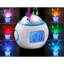 Електронний годинник-проектор зоряного неба, нічник дитячий №1038 світильник нічний (51230)