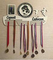Настінна медальница. Холдер для нагород з фото. Футбол