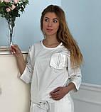Женский белый спортивный костюм (Турция, Zanardi); разм 44,46,48, фото 5