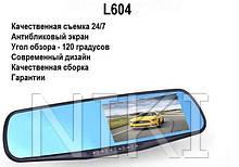 Авторегістратор Відеореєстратор-дзеркало L604 з покриттям антивідблиску Відеореєстратор з камерою