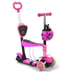 """Трехколесный Самокат с ручкой """"Best Scooter"""" малиново-розовый 35343"""