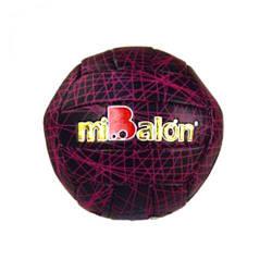 """Мяч волейбольный """"miBalon""""  (черно-розовый) B25282"""