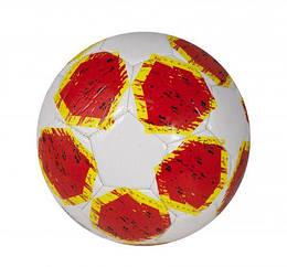 Мяч футбольный бело-красный КВ-077